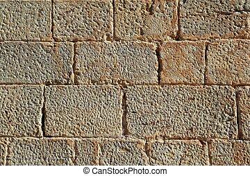성, 벽돌공, 벽, 새기는, 돌, 은, 패턴, 직물
