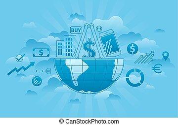 세계적인 시장, 파랑
