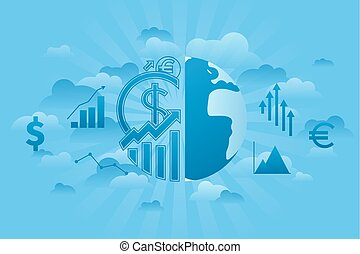 세계, 경제학, 파랑