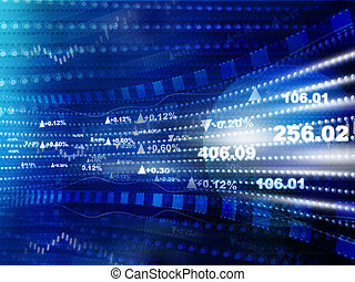 세계, 경제학, graph., 증권 거래소 도표, ., 재정, 개념