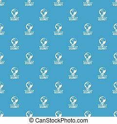 세계, 자료 보안, 패턴, 벡터, seamless, 파랑