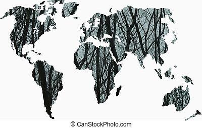 세계 지도, 환경, 개념