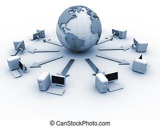 세계, 컴퓨터 네트워크