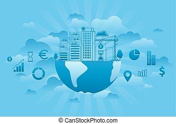 세계, 투자, 파랑