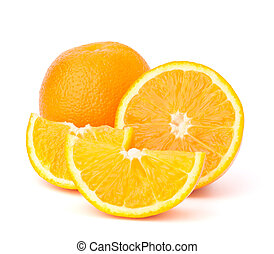 세그먼트, 고립된, 얇게 썰린다, 과일, 배경, 오렌지, 백색
