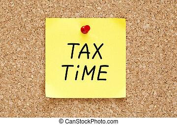 세금, 시간, 접착성의 노트