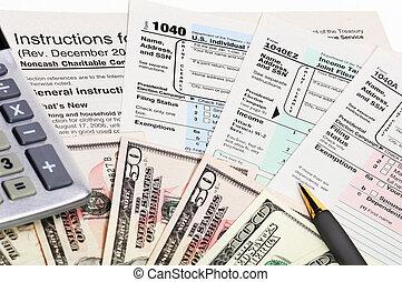 세금 신고서, 1040.