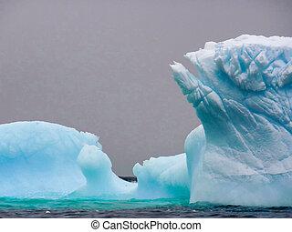 세부, 의, 자형의 것, 남극, 빙산