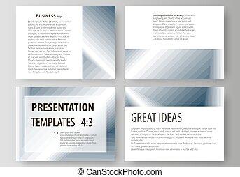 세트, 의, 사업, 형판, 치고는, 제출, slides., 쉬운, editable, 벡터, 배치, 에서, 바람 빠진 타이어, design., 단일의, 단색화, 기하학이다, pattern., 떼어내다, polygonal, 스타일, 유행, 현대, 배경.