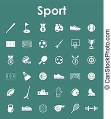 세트, 의, 스포츠, 간단한 아이콘