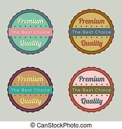 세트, 의, 포도 수확, retro, labels.