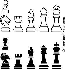 세트, 체스 말