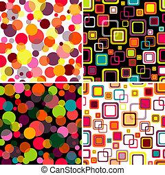 세트, seamless, 패턴