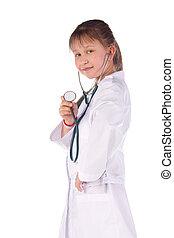 소녀, a, 의사, 그만큼, 아이
