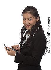 소녀, calculator.