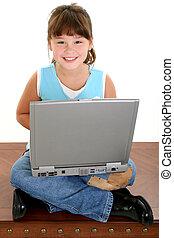 소녀, chid, 컴퓨터