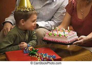 소년, 생일, 파티.