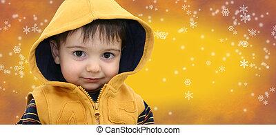 소년 아이, 에서, 황색