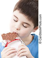 소년, 와, 초콜릿 과자, 에서, 그만큼, 손