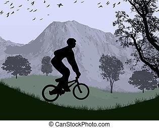 소년, 자전거에서