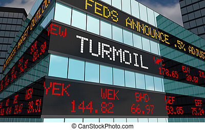 소란, volatility, 증권 거래소, 시계, 낱말, 3차원, 삽화