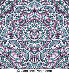 소수 민족의 사람, 꽃의, seamless, 패턴