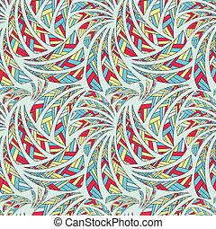 소수 민족의 사람, seamless, 패턴, 배경