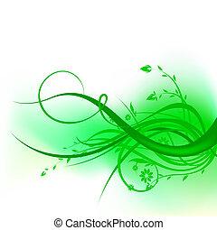 소용돌이, 녹색, 디자인