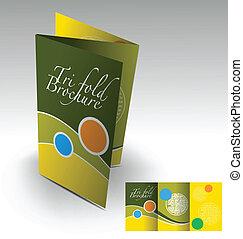소책자, tri-fold, 디자인