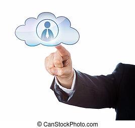손가락, 만지는 것, 사무원, 아이콘, 에서, 그만큼, 구름