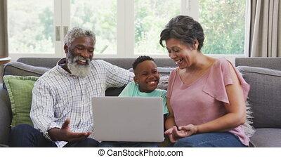 손자, 지출, 함께, 시간, 조부모