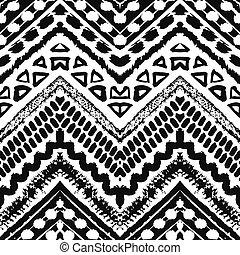 손, 그어진, 그리는, seamless, pattern., 벡터, 삽화