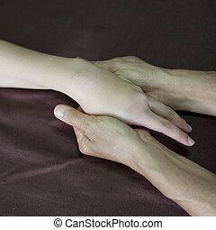 손, 타이, 마사지, 에서, 그만큼, 날 온천