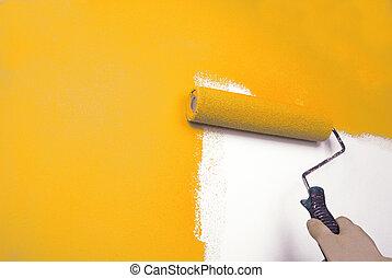 손, 회화 벽