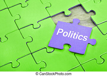 수수께끼, 와, 낱말, 정치
