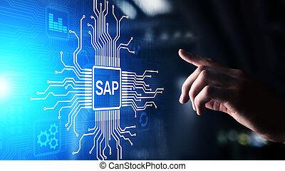수액, -, 사업, 과정, 오토메이션, software., erp, 기업, 자원, 계획, 체계, 개념, 통하고 있는, 사실상, screen.