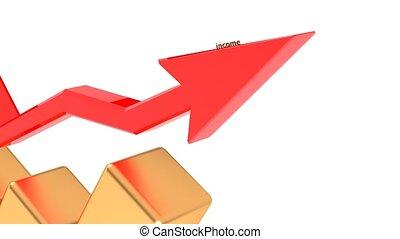 수입, growth., 성공, 에서, 사업, 또는, 에서, life., 일, 초래한다, 많게의, 의, 돈.,...