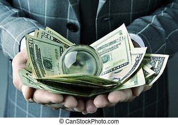 수정 구슬, 달러 계산서, 실업가