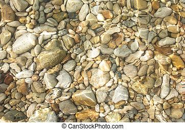 수중 사진, 돌, 배경