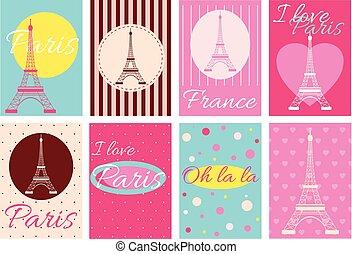 수집, 의, 배너, 와, 에펠 탑