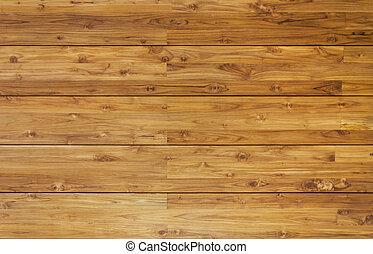 수평이다, 나무로 되는 판자