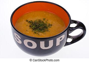 수프, 에서, a, 사발