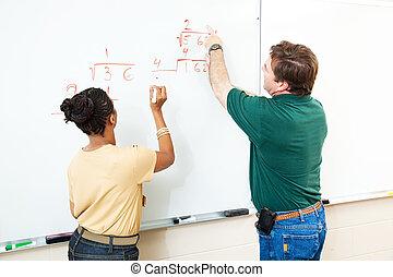 수학, 학급, -, 학생, 와..., 선생님