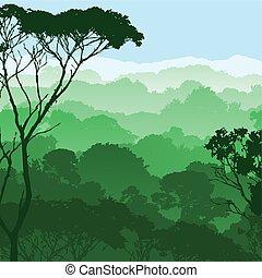 숲, 조경술을 써서 녹화하다