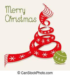 스카프, 크리스마스 나무