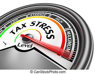 스트레스, 수준, 현대, 세금, 최대, 미터, 개념의