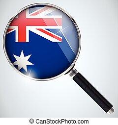스파이, 호주, usa 정부, nsa, 프로그램, 나라