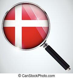 스파이, usa 정부, 나라, 프로그램, nsa, 덴마크