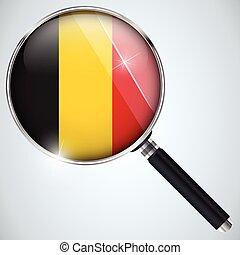 스파이, usa 정부, 나라, 프로그램, nsa, 벨기에