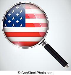 스파이, usa 정부, 나라, 프로그램, nsa